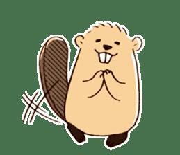 Funny , cute , beaver sticker #11397925