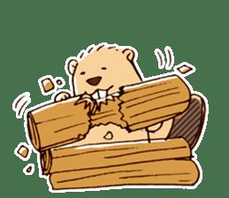 Funny , cute , beaver sticker #11397927