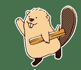 Funny , cute , beaver sticker #11397928