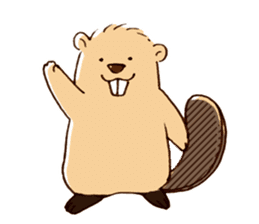 Funny , cute , beaver sticker #11397929
