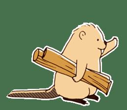 Funny , cute , beaver sticker #11397933