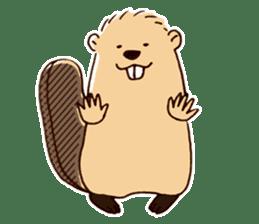 Funny , cute , beaver sticker #11397934