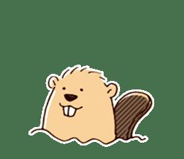 Funny , cute , beaver sticker #11397936