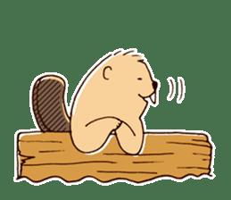Funny , cute , beaver sticker #11397937