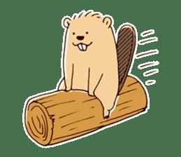 Funny , cute , beaver sticker #11397938