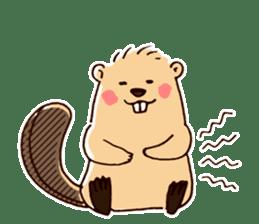 Funny , cute , beaver sticker #11397939
