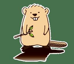 Funny , cute , beaver sticker #11397940
