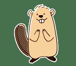 Funny , cute , beaver sticker #11397943