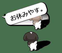 Shih Tzu dog and Friends 2. sticker #11411750