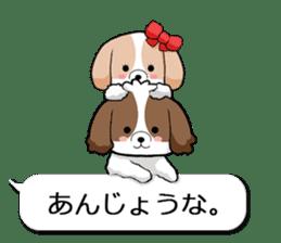 Shih Tzu dog and Friends 2. sticker #11411758