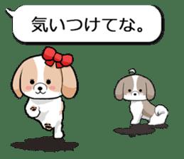 Shih Tzu dog and Friends 2. sticker #11411769
