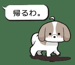 Shih Tzu dog and Friends 2. sticker #11411770