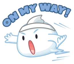 Happy Friendly Ghost sticker #11425784
