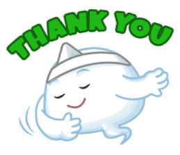 Happy Friendly Ghost sticker #11425785