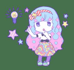 Yume-kawaii girl sticker #11432592