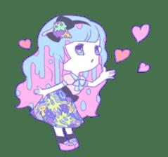 Yume-kawaii girl sticker #11432595