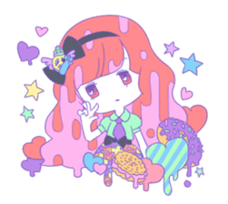 Yume-kawaii girl sticker #11432602