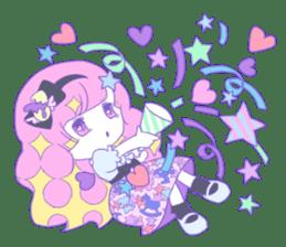 Yume-kawaii girl sticker #11432606