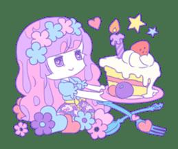 Yume-kawaii girl sticker #11432609