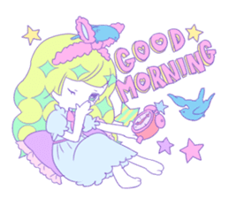 Yume-kawaii girl sticker #11432615