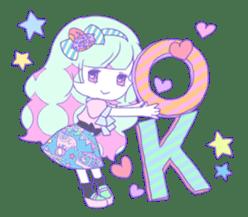 Yume-kawaii girl sticker #11432620