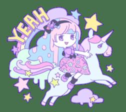 Yume-kawaii girl sticker #11432624