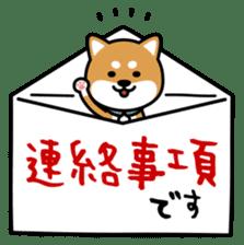 Messenger dog ! Mameshiba sticker #11441003