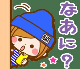 Leisurely a girlfriend  17  rainy season sticker #11441578