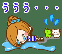 Leisurely a girlfriend  17  rainy season sticker #11441580