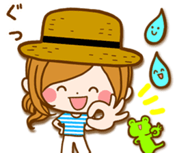 Leisurely a girlfriend  17  rainy season sticker #11441582