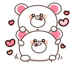 Let's send a love bear sticker #11442278