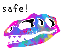 Bone of a dinosaur 3 sticker #11444157