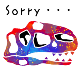 Bone of a dinosaur 3 sticker #11444162