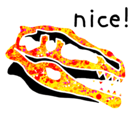 Bone of a dinosaur 3 sticker #11444164
