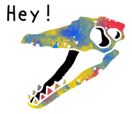 Bone of a dinosaur 3 sticker #11444170