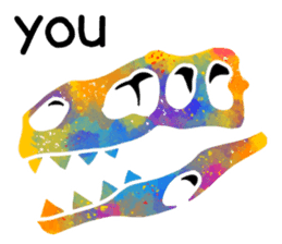 Bone of a dinosaur 3 sticker #11444178