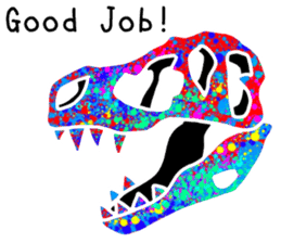 Bone of a dinosaur 3 sticker #11444183