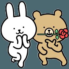 Rabbit and bear sticker4