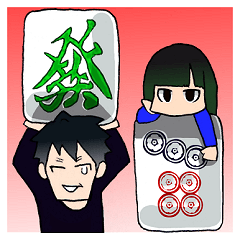 Mahjong Crazies Sticker
