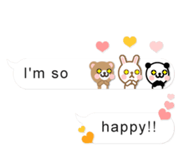 Cutie Chatty Friends!! (Eng) sticker #11460434