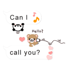Cutie Chatty Friends!! (Eng) sticker #11460443