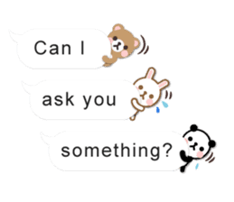 Cutie Chatty Friends!! (Eng) sticker #11460456
