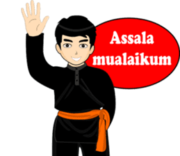 silat boy 1 ( fighter ) sticker #11472792