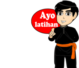 silat boy 1 ( fighter ) sticker #11472796