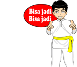 silat boy 1 ( fighter ) sticker #11472803