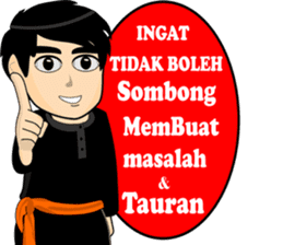 silat boy 1 ( fighter ) sticker #11472808