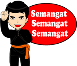 silat boy 1 ( fighter ) sticker #11472829