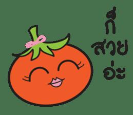 Mr Cucumber & Mrs Tomato sticker #11480629