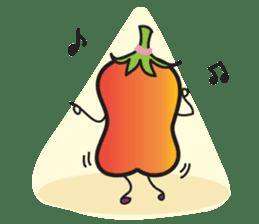 Mr Cucumber & Mrs Tomato sticker #11480630