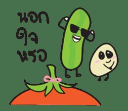 Mr Cucumber & Mrs Tomato sticker #11480646